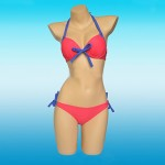 Colorful Bowknot Sexy Beach Wear Push Up Swimwear Bikini Set