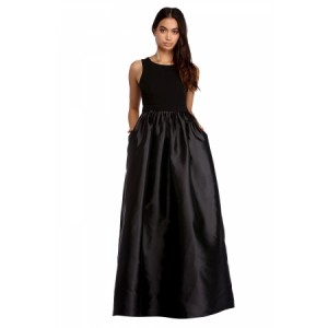 Black Sleeveless Open Back Evening Party Dress