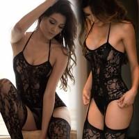 bdf36d1a4436 Lingerie Women Hot Erotic Baby Dolls Dress Women Teddy Lenceria Sexy Mujer  Sexi Babydoll Underwear Black