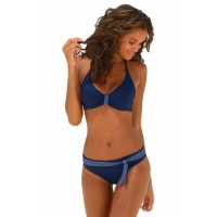 Blue Buffalo Bikini with Contrast Details