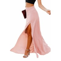 Pink Drop Dead Gorgeous Maxi Skirt Orange Red Black