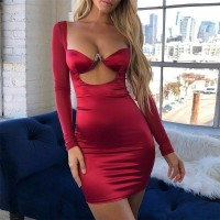 Mesh Patchwork Sexy Dress Women 2019 Red Skinny Summer Dresses With Padded Bra Backless Zipper Mini Dress