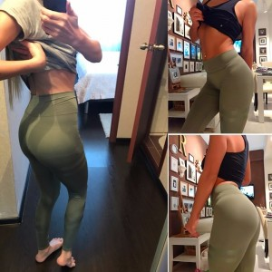 Fitness High Waist Leggings Black Green Pink Workout