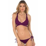 Red Convertible Wrap B ikini Two Piece Swimsuit Purple