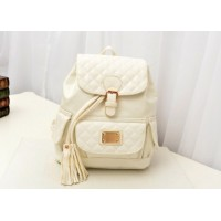British Style Women's Satchel With Buckle and Tassels Design