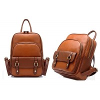 Casual Women's Backpack With Solid Color and Metal Design