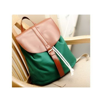 Casual Women's Satchel With Buckle and Color Matching Design