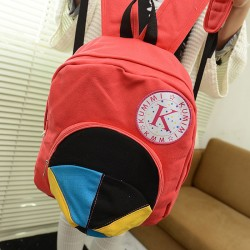 Casual Women's Satchel With Color Block and Cap Pattern Design