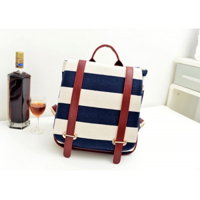 Casual Women's Satchel With Stripe and Covered Closure Design