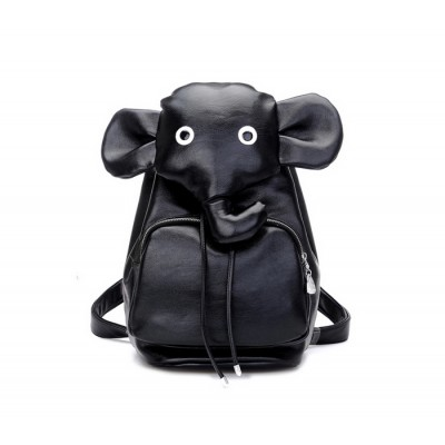 Cute Women's Satchel With Elephant Pattern and PU Leather Design