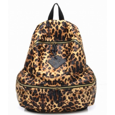 Fashion and Casual Women's Satchel With Animal Print and Zipper Design Leopard
