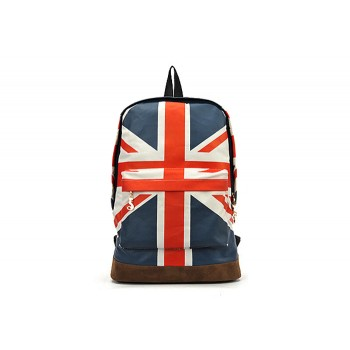 Fashion Women's Satchel With Flag Pattern and Canvas Design
