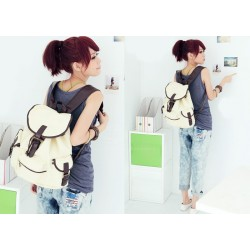 Korean Style Casual Women's Satchel With Color Matching and Canvas Design