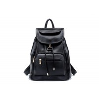Preppy Style Casual Women's Satchel With Solid Color and PU Leather Design