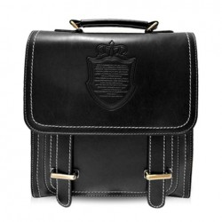 Preppy Style Women's Satchel With Solid Color and Crown Design