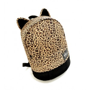 Preppy Women's Satchel With Leopard Print and Zipper Design