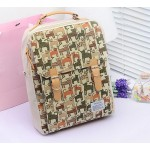 Pretty Women's Satchel With Cat Print and Buckle Design