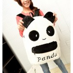 Sweet Women's Satchel With Panda Pattern and Velour Design