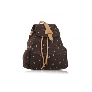 Sweet Women's Satchel With Tiny Floral Print and Canvas Design