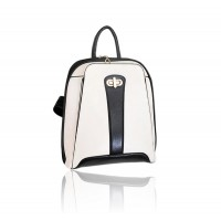 Trendy Women's Satchel With Color Block and Zipper Design
