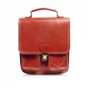 Vintage Women's Satchel With Solid Color and Heart Shape Design