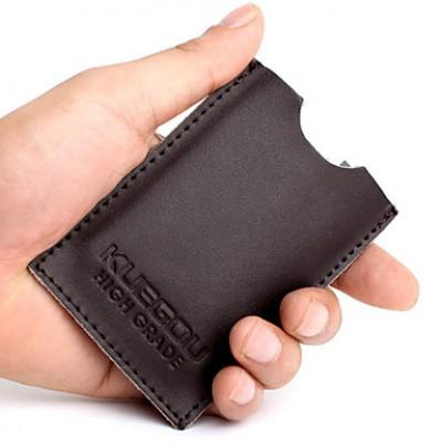 Basic Cowhide Card Bag