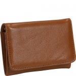 Budd Leather Cowhide Change Purse w/ Key Ring