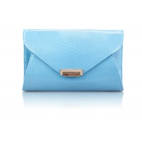 Career Women's Clutch With Solid Color and Patent Leather Design