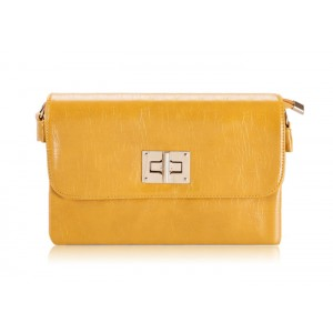 Casual Women's Clutch With Pure Color and Twist-Lock Design