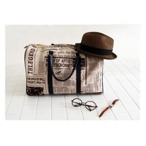 Casual Zipper Design and Newspaper Printing Handbag/Slanting Bag For Female