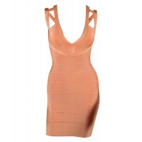 Sexy Plunging Neck Hollow Out Sleeveless Bandage Dress For Women