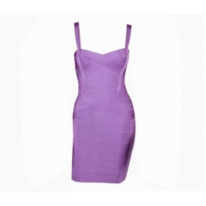 Sweetheart Neckline Club Solid Color Bandage Dress For Women Purple/Jacinth