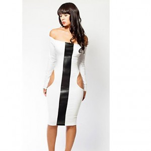 Women's Sexy Boat Collar Dress