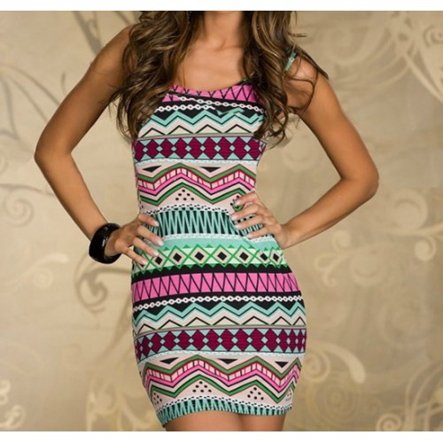 Color pattern dress