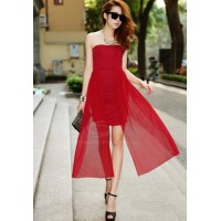 Sexy Ruche Design Club Strapless Solid Color Party Dresses For Women