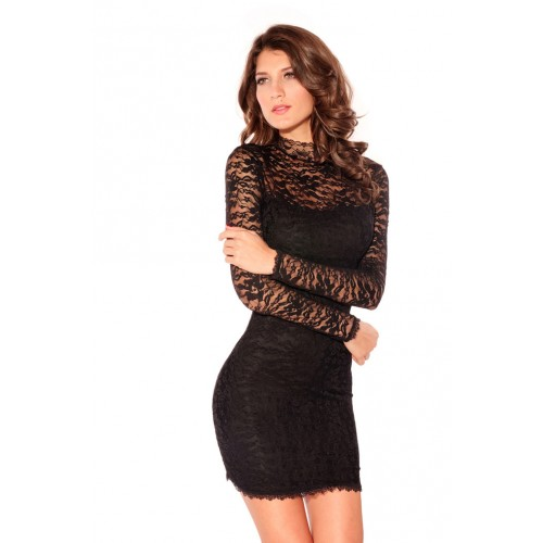 8dbe2364766f Sexy Long Black Lace Dress – Fashion dresses