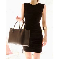 Sexy Style Solid Color Slimming Sleeveless Open Back Cut Out Dress For Women