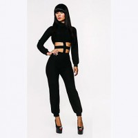 Women's Bind Belt Skirt Elegant Party Cut Pant