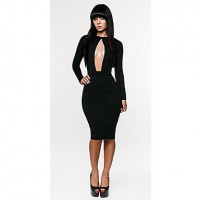 Women's Cut Out Sexy Knee-Length Dress