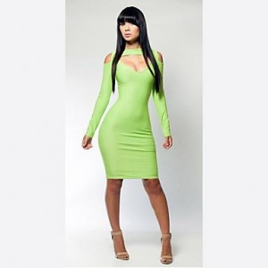 Women's Fashion Bandage Dress Elegant Party A Necessary Cut Out Dresses