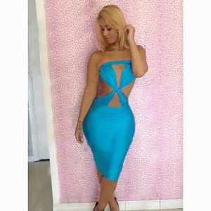 Women's Sexy Club Bandage Backless Dresses