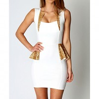 Women's Sexy Splicing Bodycon Mini Dress