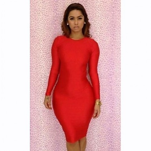 Tight red cocktail dress