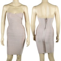 Zipper Sleeveless Polyester Low-Cut Solid Color Noble Style Bandage Dress For Women