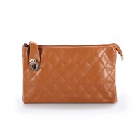 Career Women's Clutch With Checked and Push-Lock Design