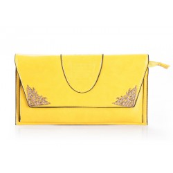 Career Women's Clutch With Pure Color and Metal Design