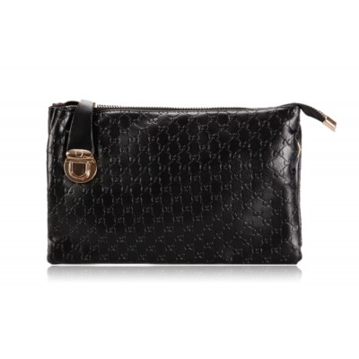 Career Women's Clutch With Solid Color and Embossing Design