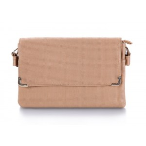 Casual Women's Clutch With Khaki Color and Metal Design