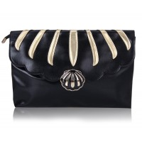 Casual Women's Clutch With Splice and PU Leather Design