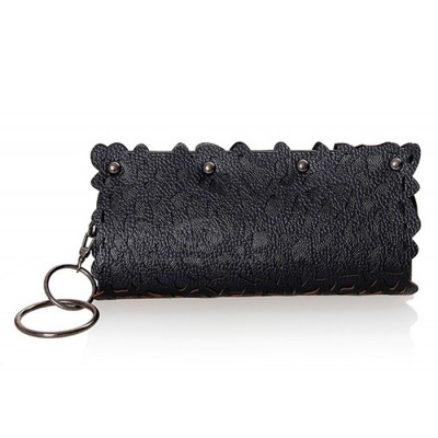 Fashion Style Women's Clutch With Openwork and Rivets Design